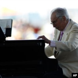 Dave Brubeck plays at the CareFusion Newport Jazz Festival in Newport, Rhode Island, 08 Aug 2010