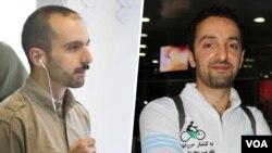 عبدالرضا کوهپایه (راست) و سام رجبی فعالان محیط زیست زندانی