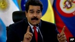"""""""Empresa que se vaya de Venezuela o que chantajee, empresa que no vuelve"""", dijoel presidente Nicolás Maduro."""