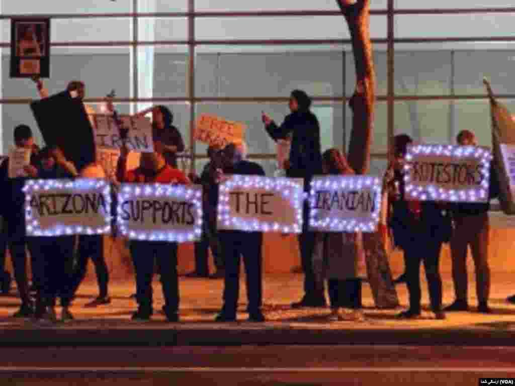 تجمع ایرانیان در شهر فینیکس ایالت آریزونای آمریکا - جمعه ۲۲ نوامبر