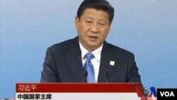 """中国国家主席习近平11月8日在亚太经合组织工商领导人会议上宣布斥巨资推动""""一带一路""""经济带的建设。"""