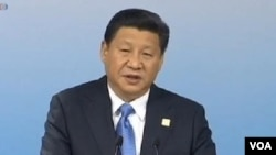 """中國國家主席習近平去年11月8日在亞太經合組織工商領導人會議上宣布斥巨資推動""""一帶一路""""經濟帶的建設。"""