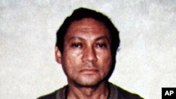 FILE - Former Panamanian strongman Manuel Noriega, pictured in this January 4, 1990 file photo