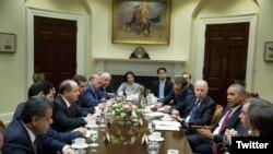 دیدار باراک اوباما و جو بایدن با مسعود بارزانی در واشنگتن