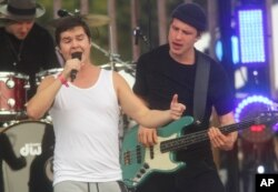 Lukas Graham performs at he MTV Woodies/10 for '16 taping during the South by Southwest Music Festival on March 16, 2016, in Austin, Texas.