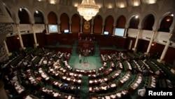 L'Assemblée nationale en séance à Tunis, Tunisie, le 10 mai 2016.
