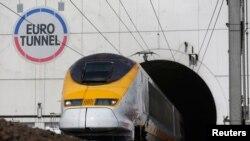 """Kereta api cepat dari Inggris ke Perancis """"Channel Tunnel"""" (foto: dok)."""
