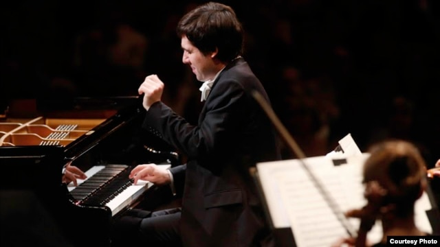 Gold Medal winner Vadym Kholodenko, 26, of Ukraine, performs during final rounds of the 14th Van Cliburn International Piano Competition in Fort Worth, Texas, on June 9, 2013. (Carolyn Cruz/ The Cliburn)