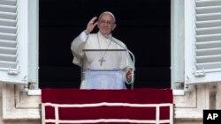 پاپ فرانسیس روز جمعه سخنرانی کرد.