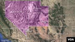 Virginia Paris ditemukan di di Las Vegas, Nevada dekat perbatasan Arizona (foto: ilustrasi).