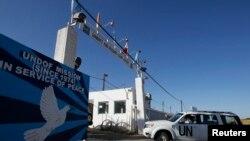 Vozilo UN na graničnom prelazu izmedju Sirije i Izraela u blizini Kuneitre, 7. jun 2013.