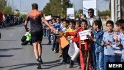 تصویری از نخستین ماراتن بین المللی ایران