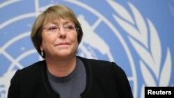 Cao Ủy Trưởng nhân quyền Liên Hiệp Quốc Michelle Bachelet.