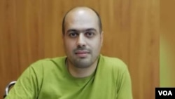 Detained Iranian journalist Masoud Kazemi, seen in this undated photo shared on social media.