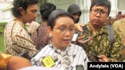 Menlu Retno Marsudi (Foto: VOA/Andyala)