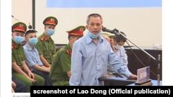 Ông Lê Đình Công trong phiên xét xử sơ thẩm ở Hà Nội từ 7-14/9/2020 về vụ án ở xã Đồng Tâm.