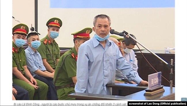 Ông Lê Đình Công trong phiên xét xử sơ thẩm ở Hà Nội từ 7-14/9/2020 về vụ án ở xã Đồng Tâm