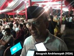 Ketua Tim Kampanye Daerah (TKD) Sumatera Utara, Ivan Iskandar Batubara, Kamis (17/1) (foto: VOA/Anugrah Andriansyah)