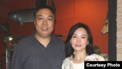 前廣州六四學生領袖于世文和陳衛夫婦(博訊網圖片)