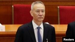 Ông Lưu Hạc, phó chủ tịch Ủy ban Phát triển và Cải cách Quốc gia Trung Quốc (NDRC) tại lễ khai mạc Đại hội đại biểu Nhân dân toàn quốc, ngày 5/3/2018.