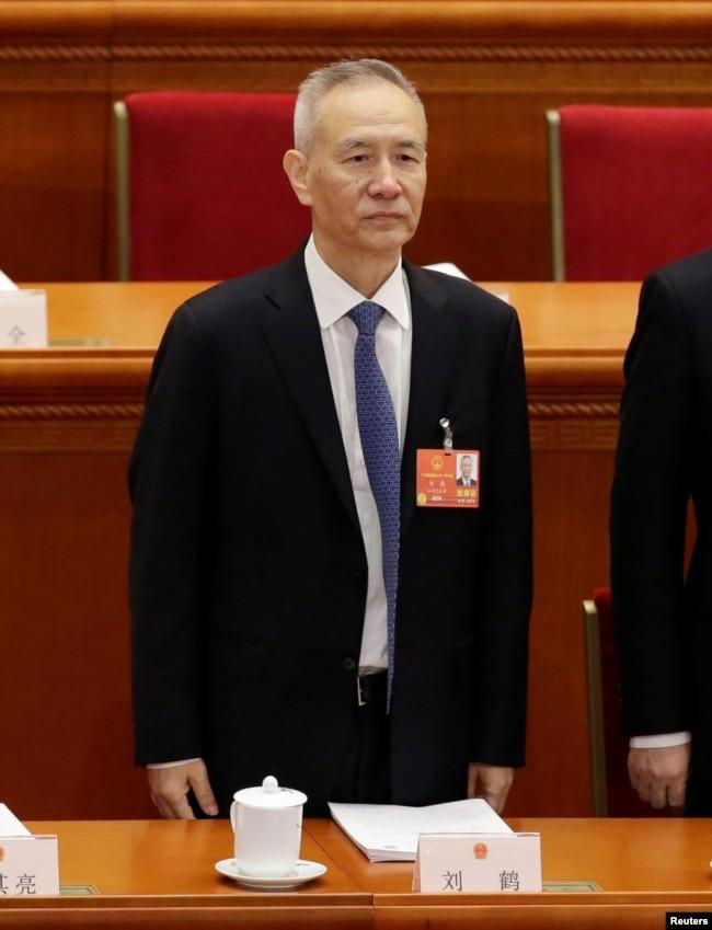 劉鶴出席人大開幕式。