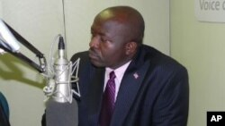 FILE - Liberia Foreign Minister Augustine Ngafuan.