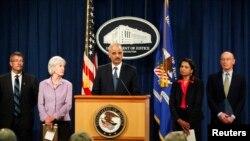 司法部长埃里克•霍尔德 (资料照片)