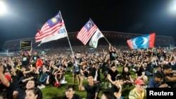Demonstrasi di Kelana Jaya, Malaysia, Mei lalu. (Foto: Dok)