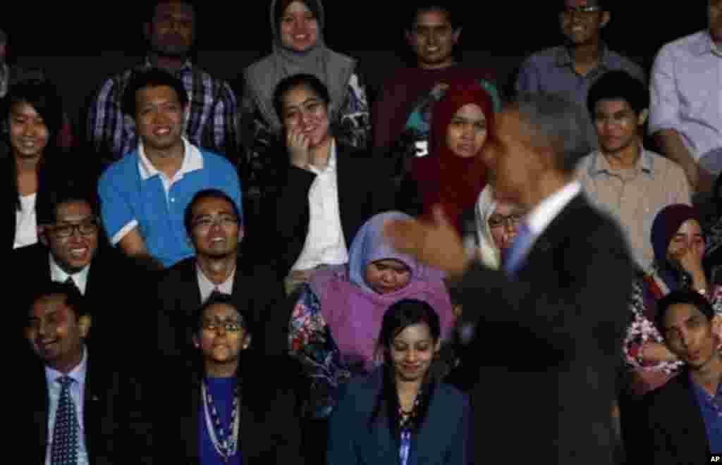 Барак Обама в университете в Куала-Лумпуре, Малайзия. 27 апреля 2014г.