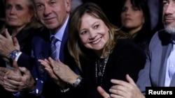La directrice générale de General Motors, Mary Barra, au Salon international de l'automobile d'Amérique du Nord à Detroit, Michigan, 13 janvier 2018.