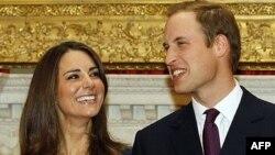 Hoàng tử William và hôn thê, cô Kate Middleton