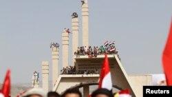 تظاهرات در روز اتحاد یمن در صنعا - ۲۲ مه ۲۰۱۶