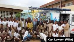 Les élèves togolais de retour en classe