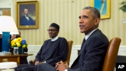 Президент Нигерии Мохаммаду Бухари и президент США Барак Обама. Белый дом. Вашингтон. 20 июля 2015 г.