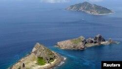 Một phần nhóm đảo mà Trung Quốc và Nhật Bản đang tranh chấp ở Biển Hoa Đông