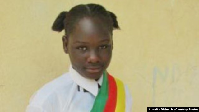 Boutou Farida Mohamat, 13, is a member of the Children's Parliament of Cameroon and a student in Far North Region.