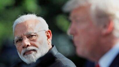 Thủ tướng Ấn Độ Modi trong chuyến thăm Nhà Trắng năm 2017.