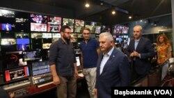 Başbakan Binali Yıldırım Trt binasını ziyaret etti.