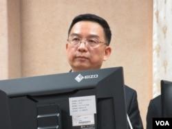 台湾国家安全局特勤中心副指挥官周广齐 (美国之音张永泰拍摄)