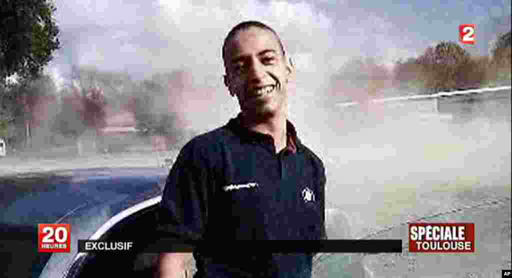 A TV grab released by French TV France 2 shows an image of 23-year-old Frenchman of Algerian descent Mohamed Merah, suspected of a series of deadly shootings in Toulouse and Montauban which killed seven persons, including three children. Merah, suspected