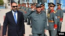 آقای نور در مراسم گشایش دومين نمايشگاه مشترک افغانستان – ايران در بلخ صحبت میکرد.