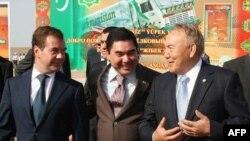 Дмитрий Медведев, Гурбангулы Бердымухамедов и Нурсултан Назарбаев