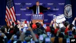 Дональд Трамп выступает на митинге в Лисбурге, штат Вирджиния. 7 ноября 2016.
