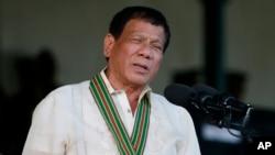 Filipinski predsednik Rodrigo Duterte