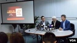 香港民主思路公佈首份一國兩制指數。(美國之音湯惠芸攝)