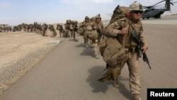 Pasukan marinir AS di Helmand, Afghanistan (foto: dok). ISIS mengunggah informasi tentang 100 personel militer AS.