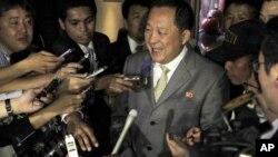 朝鲜首席核谈判代表李荣浩(资料照片)