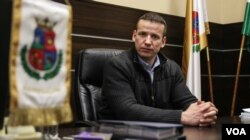 Laszlo Toroczkai, mayor of Hungarian border town Assothalom, where public practice of Islam is reportedly banned. He has set up the village's own border patrol team and repudiates accusations of excessive violence used by border guards. (VOA/J. Owens)