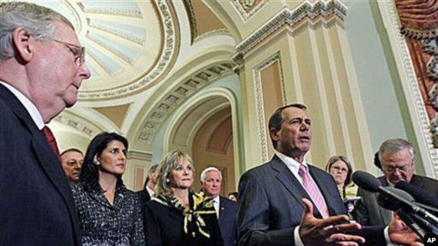 House Speaker-designate John Boehner, speaks on Capitol Hill in Washington, DC, Dec 1, 2010