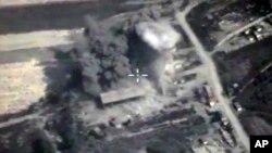 4일 러시아가 시리아에 공습을 가한 장면을 러시아 국방부가 웹사이트에 게재했다.